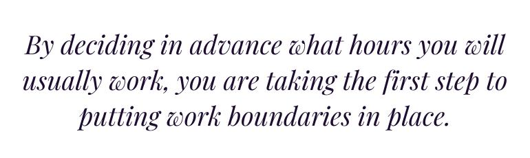 Work Boundaries Quote